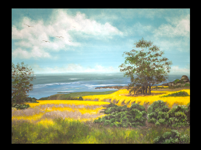 katie fagan graphics paintings-Cayucos Coastline
