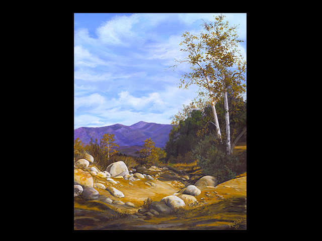 katie fagan graphics paintings-Dry Creekbed