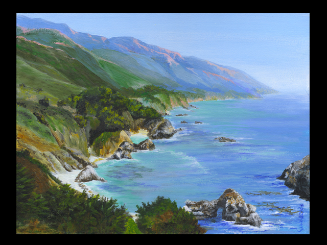 katie fagan graphics paintings-Highway 1 Painting in progress, please come back soon!