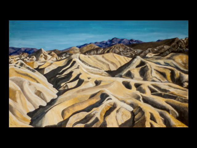 katie fagan graphics paintings-Zabriskie Point, Death Valley