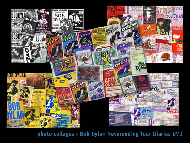 fagan graphics photo montage-Dylan montages for dvd