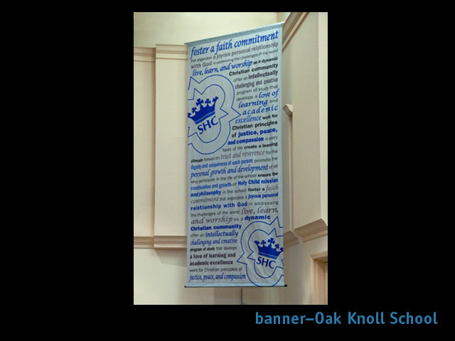 fagan graphics promotions-Oak Knoll banner