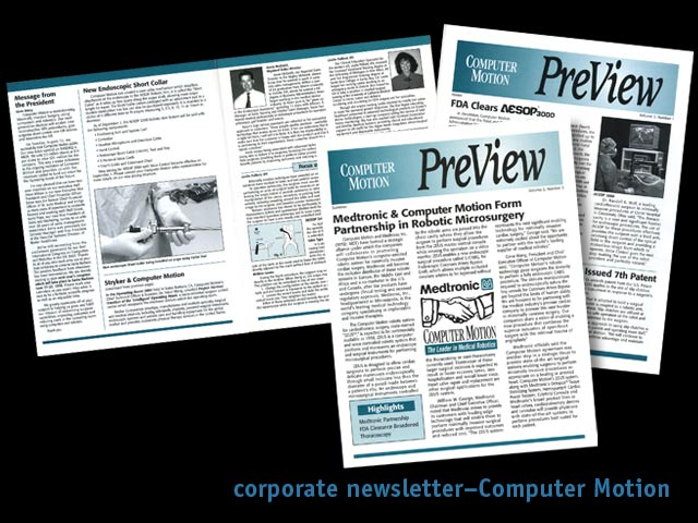 fagan graphics promotions--Computer Motion Newsletter